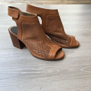 Vince Camuto Block Heel Peep Toe Booties